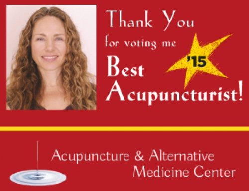 Thank You for voting me Best Acupuncturist in Monterey County!